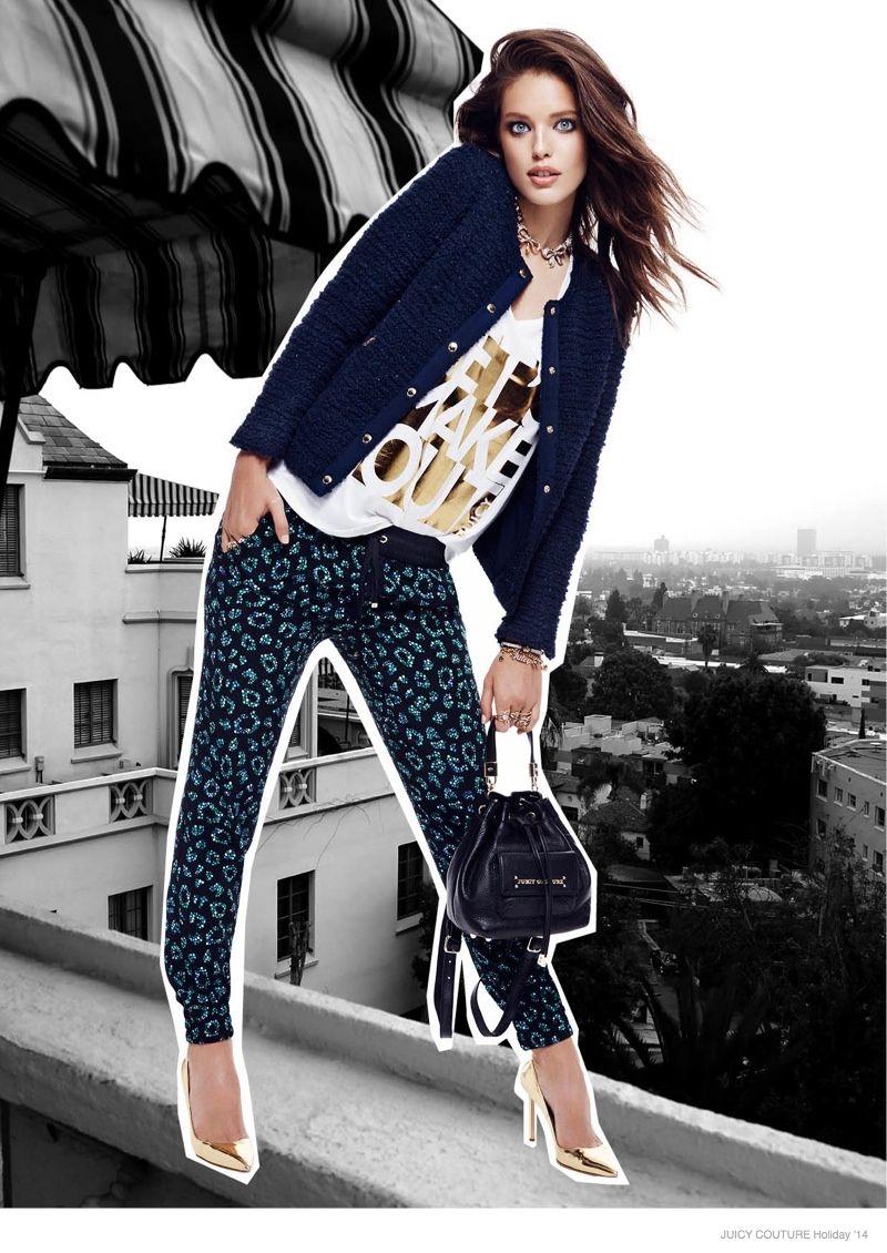 Emily DiDonato is a California Girl for Juicy Couture Holiday 2014 Shoot