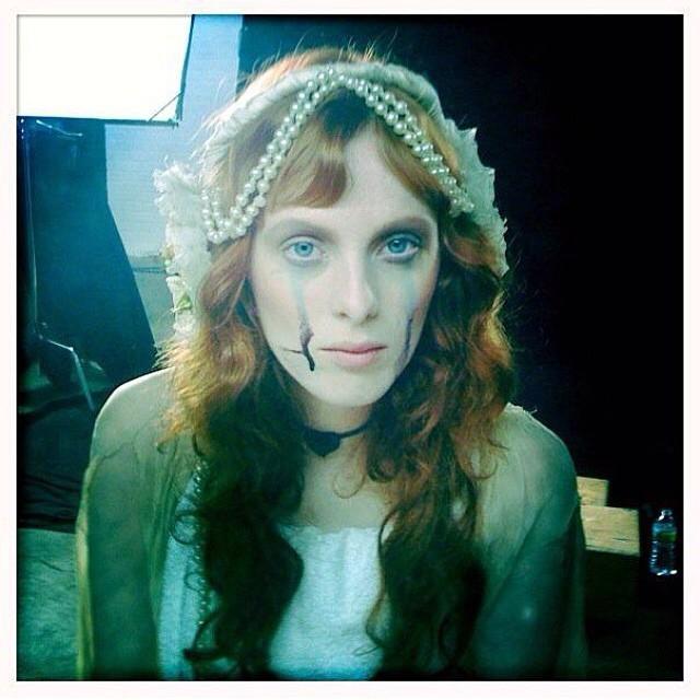 Karen Elson looks like a spooky bride