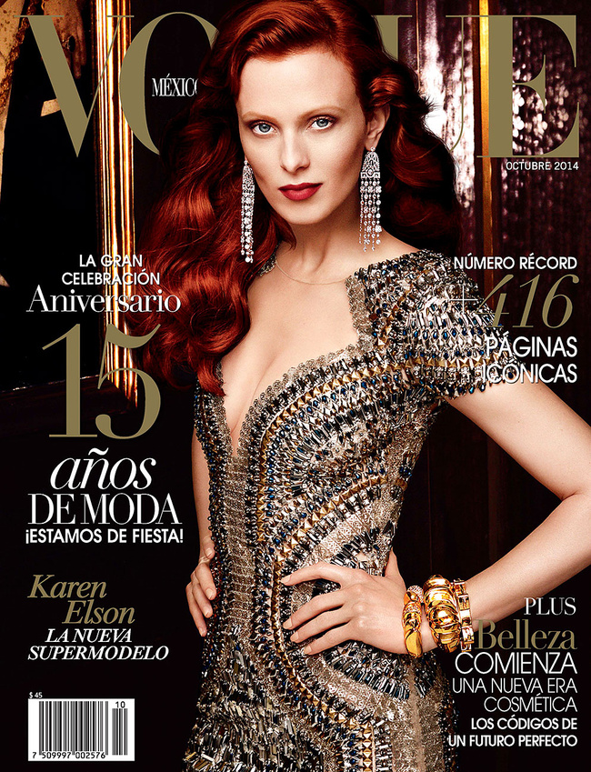 Irina Shayk, Karen Elson, Cameron Russell Cover Vogue Mexico October 2014