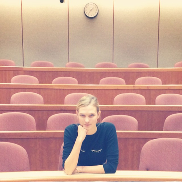 Karlie Kloss attended Harvard Business School class