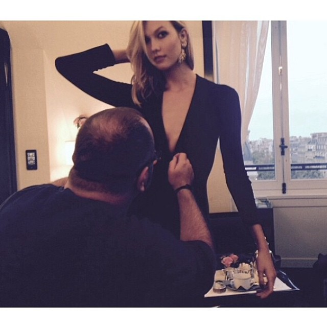 Karlie Kloss behind the scenes for L'Oreal Paris event