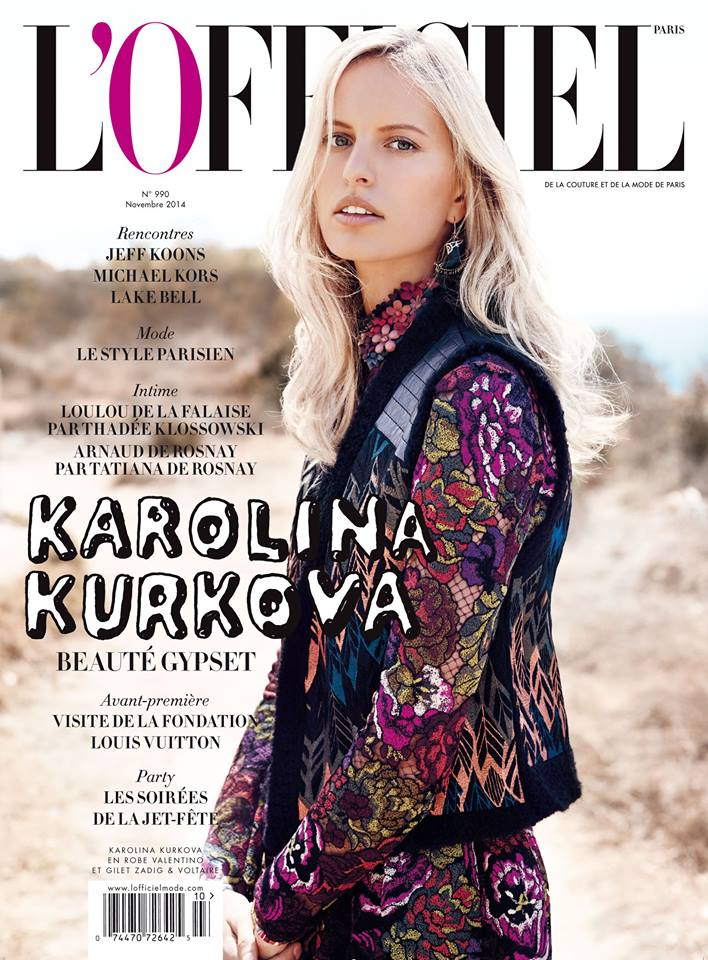 Karolina Kurkova is a Gypsy on L'Officiel Paris November 2014 Cover