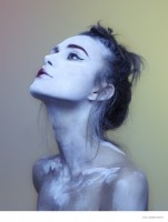 Keira Knightley Gets Painted for The Observer Photos
