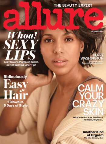 Kerry Washington Does the 'No Makeup' Look on Allure November 2014 Cover