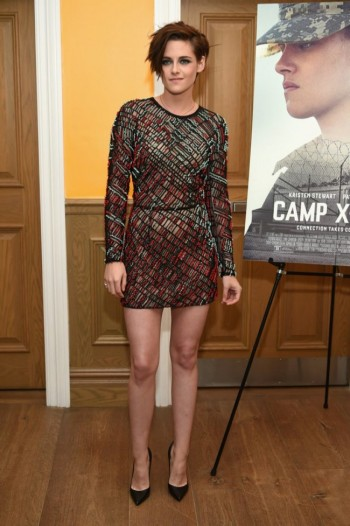 "Kristen Stewart in J. Mendel Mini Dress at ""Camp X-Ray"" New York Premiere"