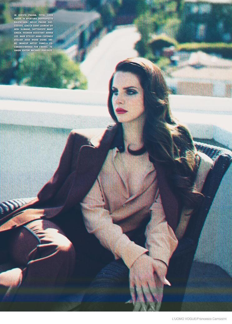 Lana Del Rey Poses for Francesco Carrozzini in Cover Shoot of L'Uomo Vogue