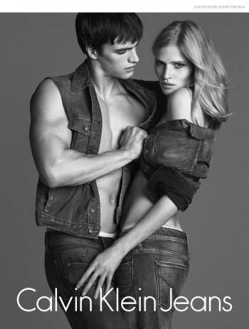 Lara Stone Sizzles in Calvin Klein Jeans Fall 2014 Campaign