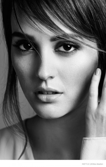 Leighton Meester Poses for InStyle UK Shoot by Max Abadian