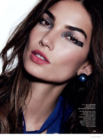 Lily Aldridge Wears Fall Makeup Looks for Cover Story of Allure Russia