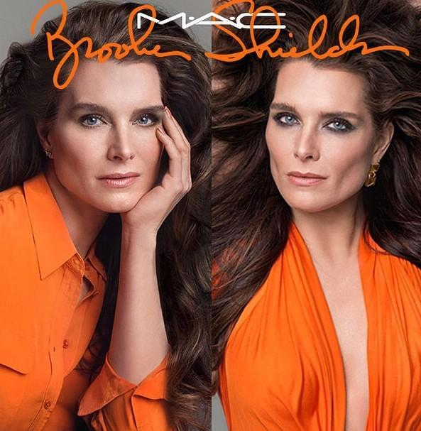Brooke Shields for MAC Cosmetics Makeup Collaboration Visual. Photo: Inez & Vinoodh