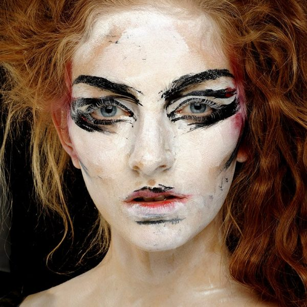 Model at Vivienne Westwood S/S 2014 Show wearing MAC Cosmetics. Photo: MAC