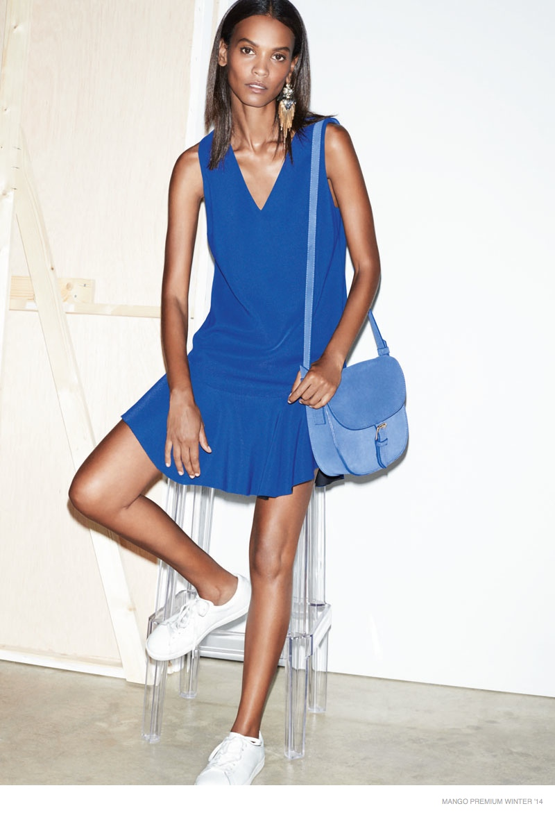Liya Kebede Sports Mango's Premium Winter 2014 Collection