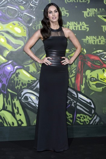 "Megan Fox Stuns in Black David Koma Dress at ""Teenage Mutant Ninja Turtles"" Berlin Premiere"