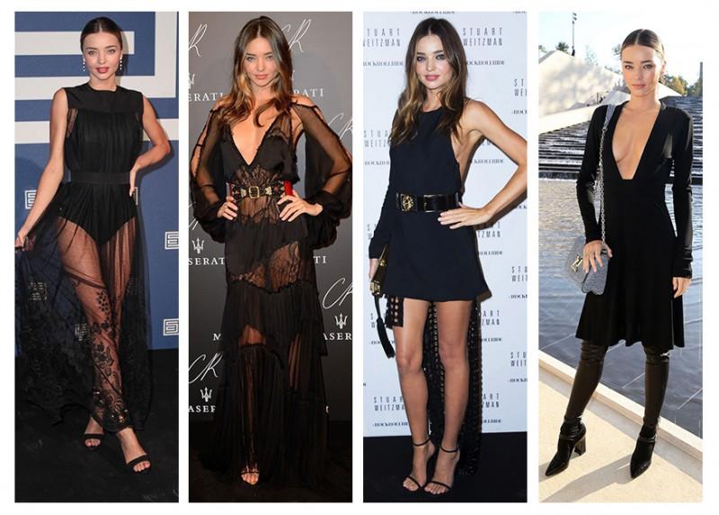 Miranda Kerr Shows How to Rock the Black Dress 4 Ways