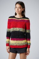 Mixed Yarn Festival Jumper available at Topshop for $116.00