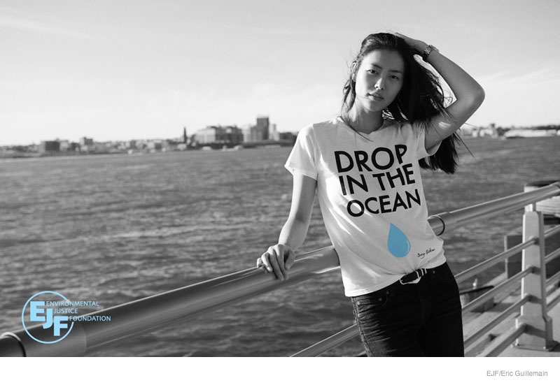 Liu Wen + Andreea Diaconu Front Environmental Justice Foundation Images by Eric Guillemain
