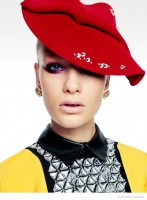 Greg Kadel Captures Models in Colorful Hats for Vogue Germany