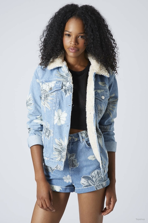 Moto Floral Borg Western Jacket available at Topshop for $60.00