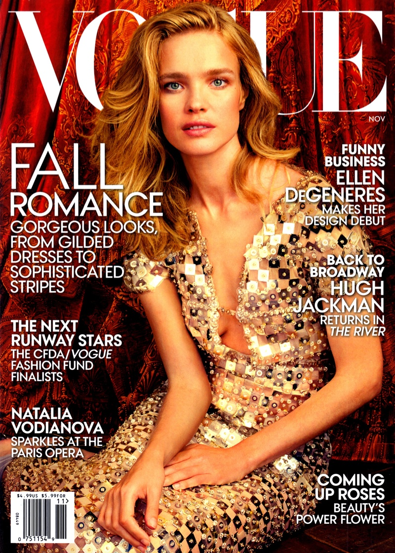 natalia vodianova vogue us november 2014 cover Natalia Vodianova Enchants on Vogue US November 2014 Cover