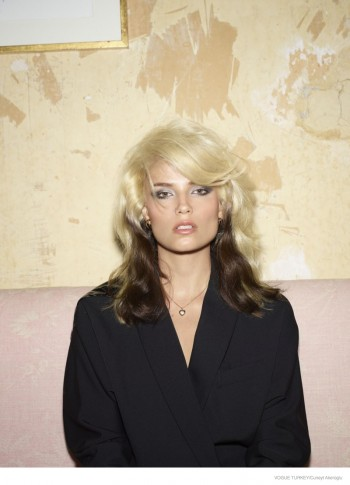 Natasha Poly Wears 1980s Style Inspired by Blondie for Vogue Turkey