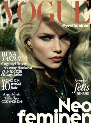 Natasha Poly Channels Blondie on Vogue Turkey October 2014 Cover