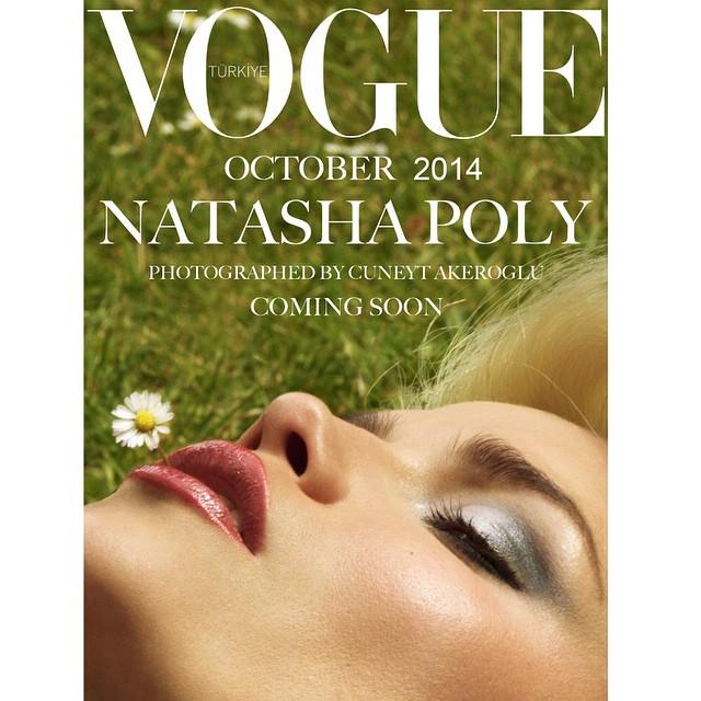 Natasha Poly by Cuneyt Akerglou for Vogue Turkey. Photo: Photographer's Instagram