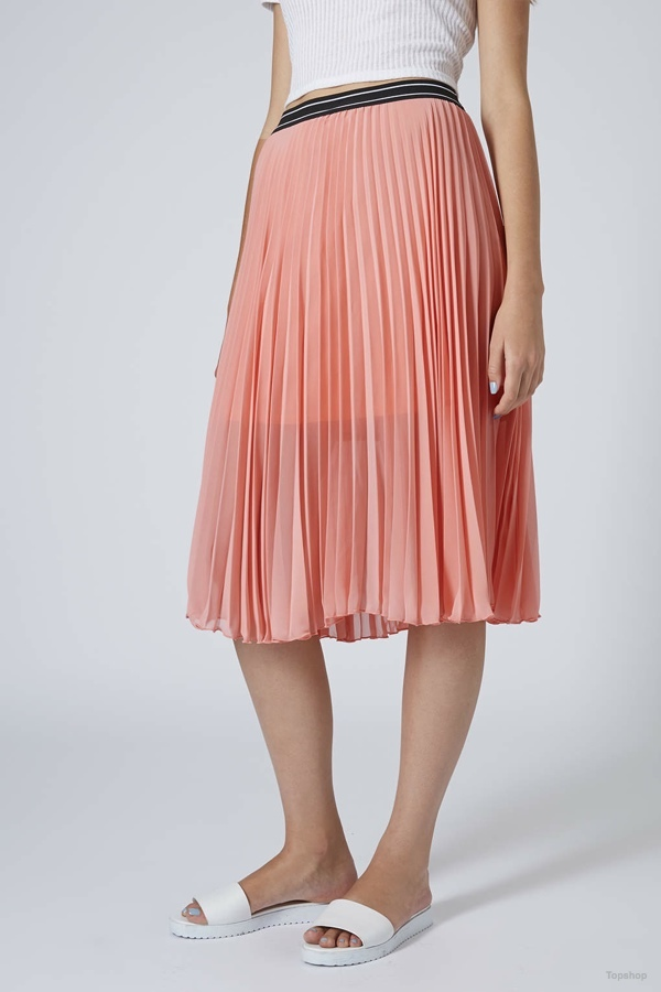 Pleated Midi Skirt available at Topshop for $40.00