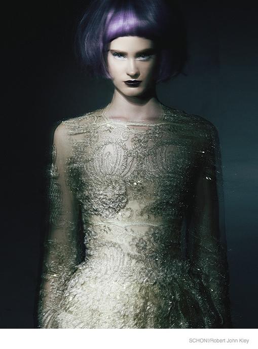 Alli Cripe Wears Elegant Dresses for Schon! Magazine