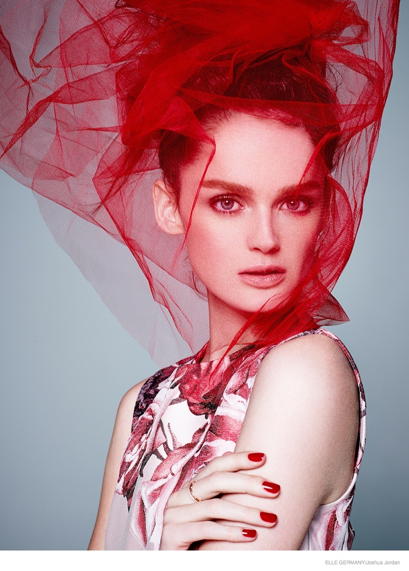 lisa cant models red hot looks for elle germany