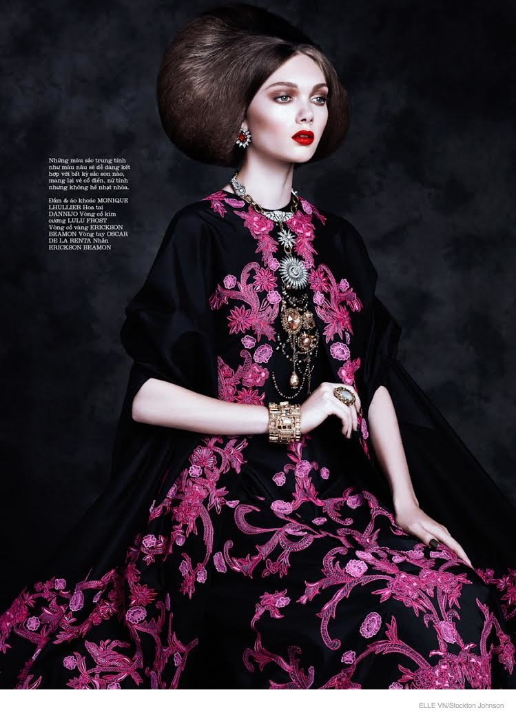 Puck Loomans is Like Royalty for Elle Vietnam by Stockton Johnson