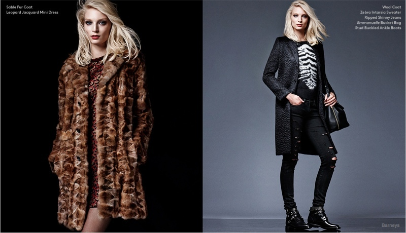 Melissa Tamerijn Wears Saint Laurent Fall 2014 Looks for Barneys