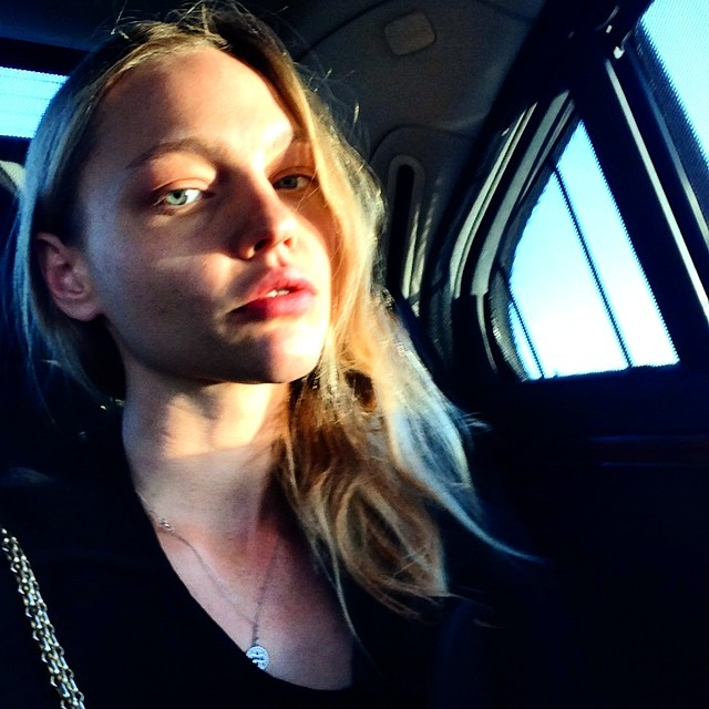 Sasha Pivovarova's selfie game is also strong