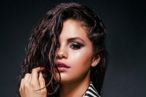 Selena Gomez Rocks Wet Hair, Striped Blazer in New Shoot