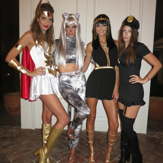 Ana Beatriz as Shera with Alessandra Ambrosio and friends