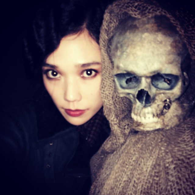 Tao Okamoto gets spooky on the set of Hannibal
