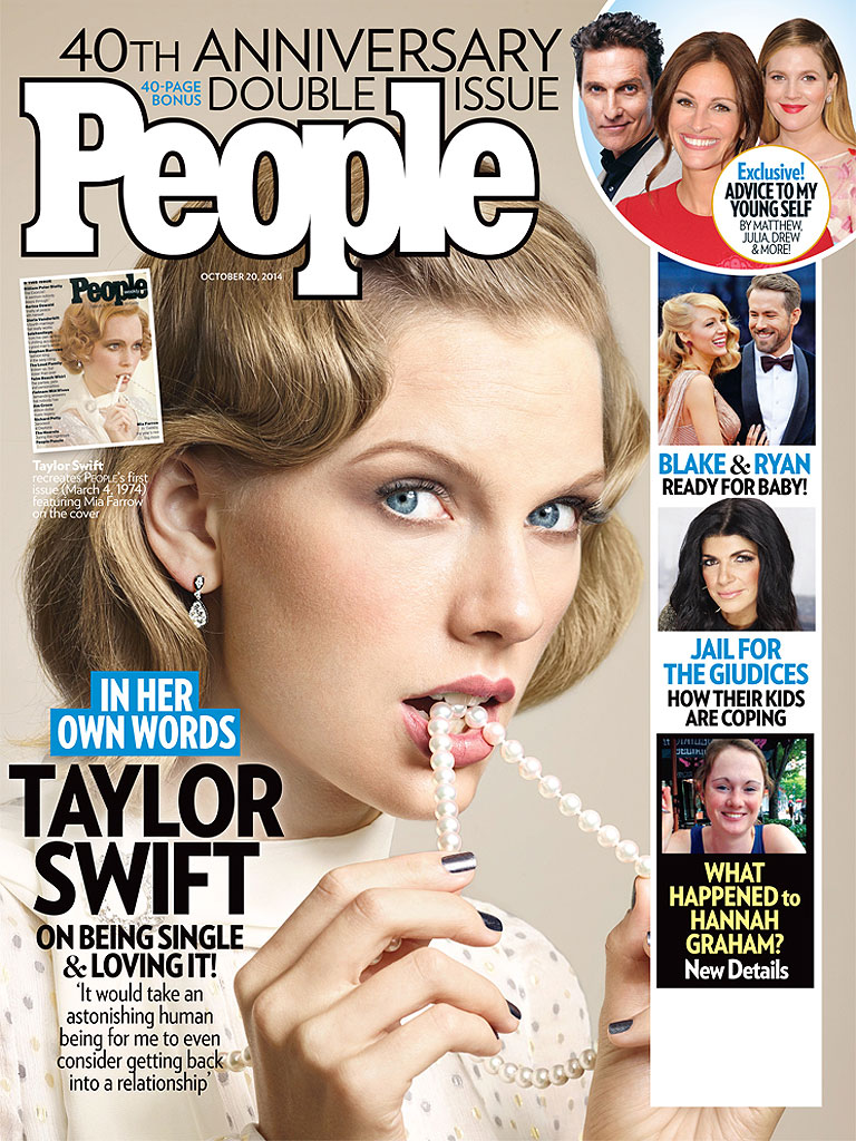 The newsstand cover of People Magazine with Taylor Swift