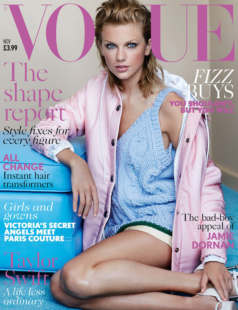 Taylor Swift Wears Miu Miu on Vogue UK November 2014 Cover