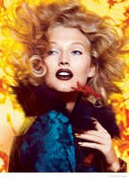 Toni Garrn Models Fall Lipstick Shades for Recent Allure Shoot