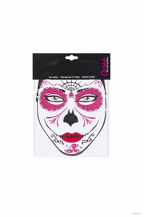 Halloween Costume Day of the Dead Face Sticker