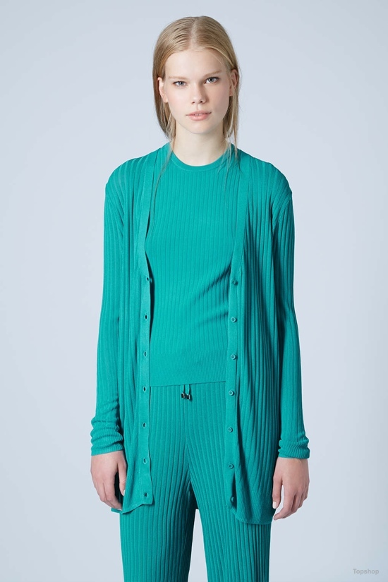 Relaxed Ribbed Cardigan by Marques'Almeida X Topshop