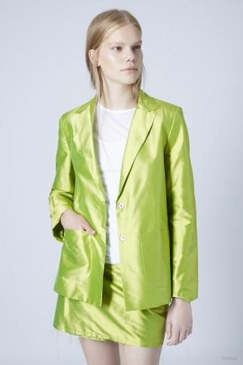 Relaxed Mensy Silk Blazer by Marques'Almeida X Topshop
