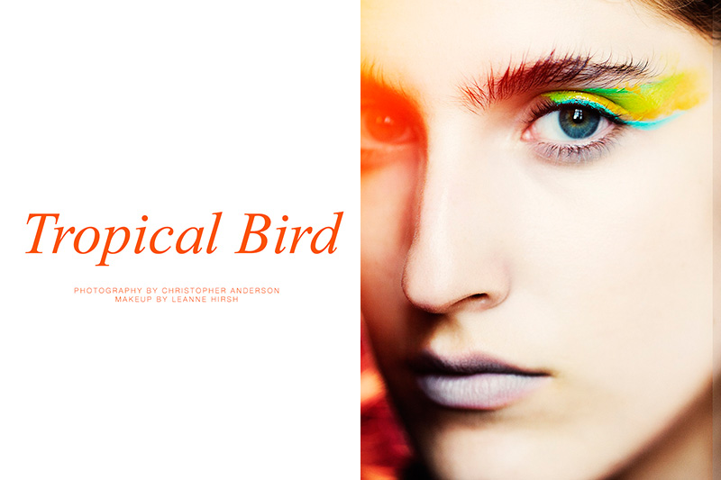 "FGR Exclusive | Amanda Moreno by Christopher Anderson in ""Tropical Bird"""