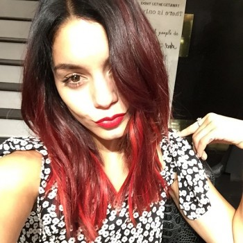 Actress Vanessa Hudgens revealed a new red hue for her fall hairstyle