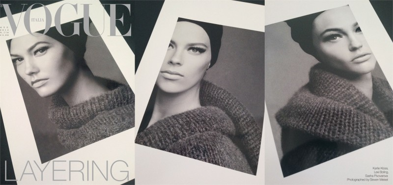 Karlie Kloss, Sasha Pivovarova + Lexi Boling Land Vogue Italia October 2014 Cover