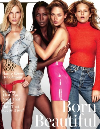 Models Rule W Magazine's November 2014 Cover