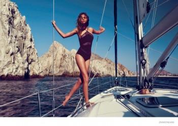 Josephine Skriver Models Swimsuits for Zimmermann Resort 2015 Campaign