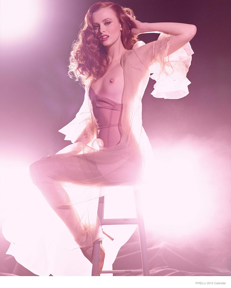 Karen Elson for September. 2015 Pirelli Calendar.