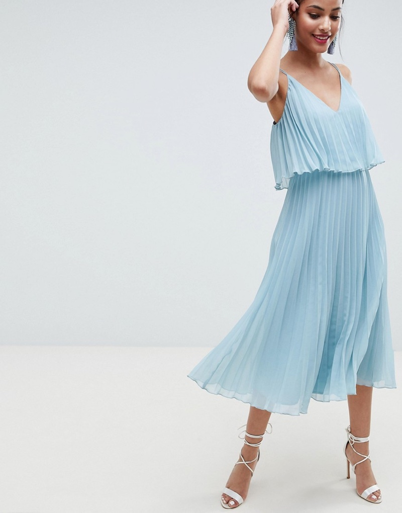 ASOS Design Pleated Crop Top Midi Dress $48 (previously $60)