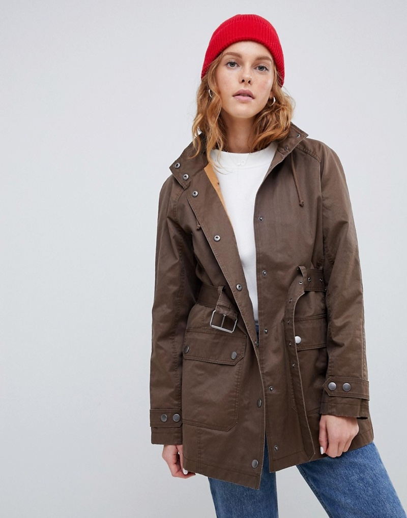 ASOS Design Wax Look Utility Jacket $82 (previously $103)