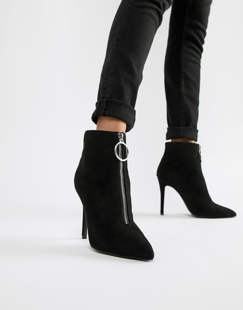 Qupid Zip Front Pointed Ankle Boots $51 (previously $77)